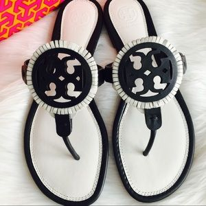 Tory Burch Shoes - {Tory Burch} Miller Fringe Sandals